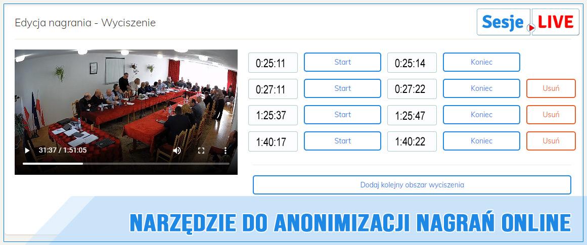 anonimizacja nagrania sesji